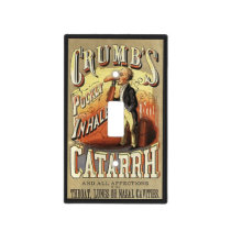 Vintage Product Label Art, Crumb's Pocket Inhaler Light Switch Cover