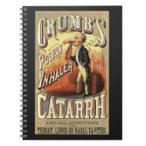 Vintage Product Label Art, Crumb's Pocket Inhaler Notebook