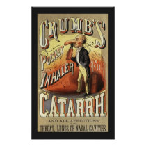 Vintage Product Label Art, Crumb's Pocket Inhaler Poster