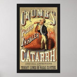 Vintage Product Label Art, Crumb's Pocket Inhaler Poster