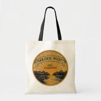 Vintage Product Label Art, Golden West Oil Company Budget Tote Bag