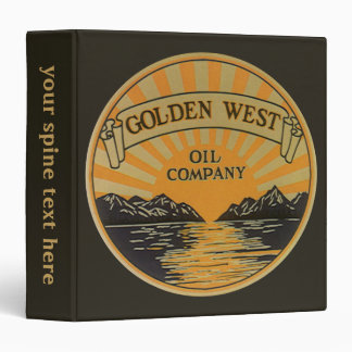 Vintage Product Label Art, Golden West Oil Company Binder