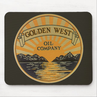 Vintage Product Label Art, Golden West Oil Company Mouse Pad