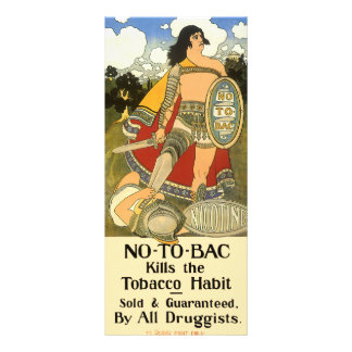 Vintage Product Label Art, No To Bac, Quit Smoking Rack Card