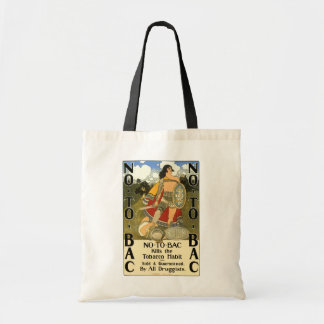 Vintage Product Label Art, No To Bac, Quit Smoking Tote Bag