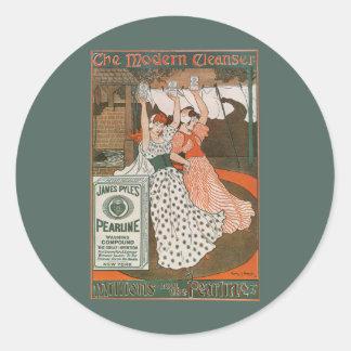 Vintage Product Label Art, Pearline Cleanser