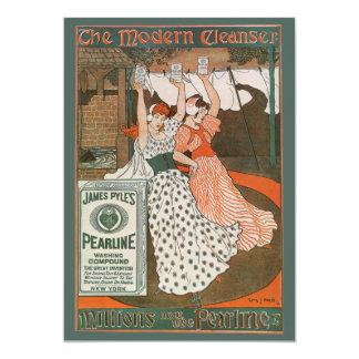 Vintage Product Label Art, Pearline Cleanser Card