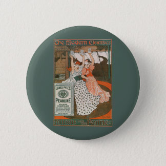 Vintage Product Label Art Pearline Modern Cleanser Button