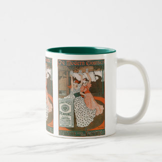Vintage Product Label Art Pearline Modern Cleanser Two-Tone Coffee Mug