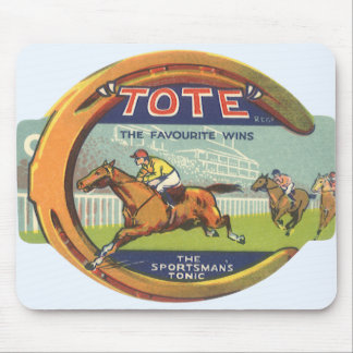 Vintage Product Label Art, Tote Tonic Mouse Pad