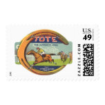 Vintage Product Label Art, Tote Tonic Postage