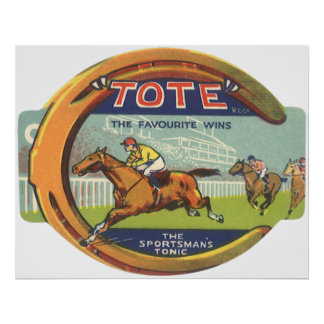 Vintage Product Label Art, Tote Tonic Poster