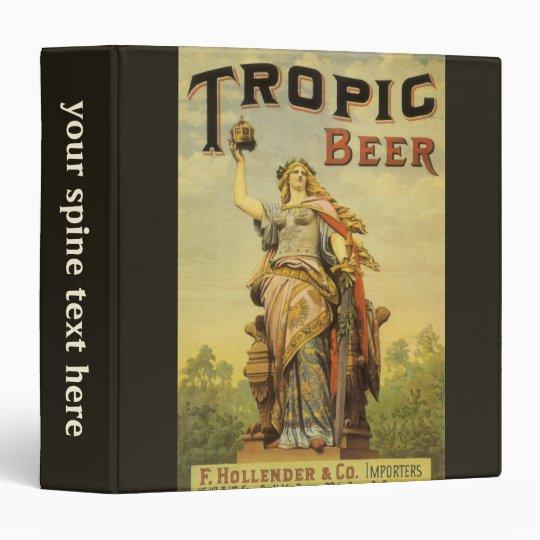Vintage Product Label Art, Tropic Beer Gladiator 3 Ring Binder