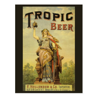 Vintage Product Label Art, Tropic Beer Gladiator Postcard