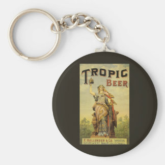 Vintage Product Label Art, Tropic Beer Keychain