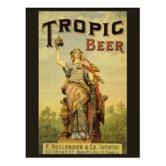 Vintage Product Label Art, Tropic Beer Postcard