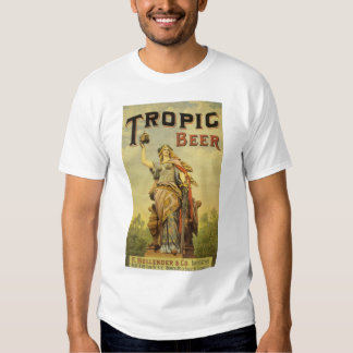 Vintage Product Label Art, Tropic Beer T Shirt