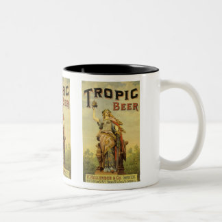Vintage Product Label Art, Tropic Beer Two-Tone Coffee Mug