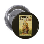Vintage Product Label Art Woman Tropic Beer Stein Button