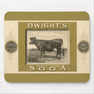 Vintage Product Label, Dwight's Bicarbonated Soda Mouse Pad