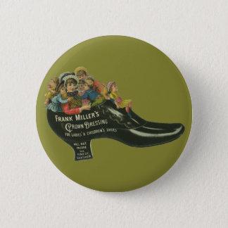 Vintage Product Label, Frank Miller's Shoe Polish Pinback Button