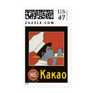 Vintage Product Label, Kakao Russian Hot Chocolate Stamp