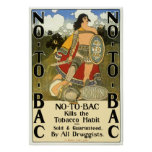 Vintage Product Label, No To Bac Posters