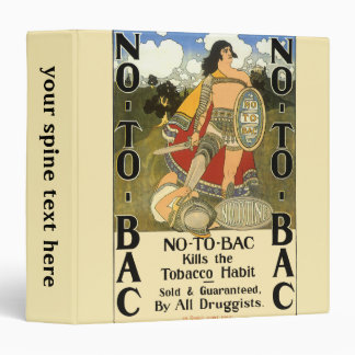 Vintage Product Label, No To Bac, Quit Smoking 3 Ring Binders