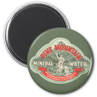 Vintage Product Label, Pine Mountain Mineral Water Magnet