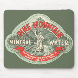 Vintage Product Label, Pine Mountain Mineral Water Mouse Pad