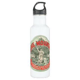 Vintage Product Label, Pine Mountain Mineral Water Stainless Steel Water Bottle