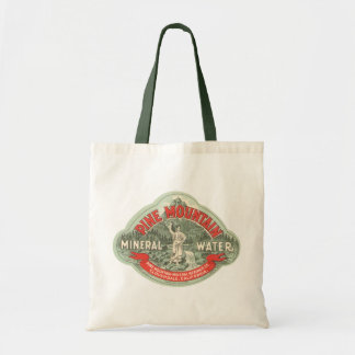 Vintage Product Label, Pine Mountain Mineral Water Tote Bag