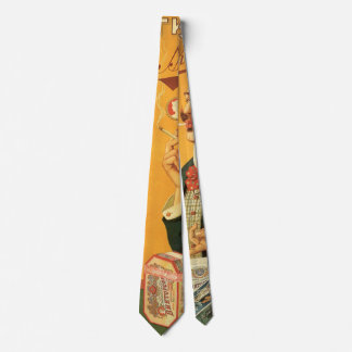 Vintage Product Label, Russian Cigarette Tobacco Neck Tie