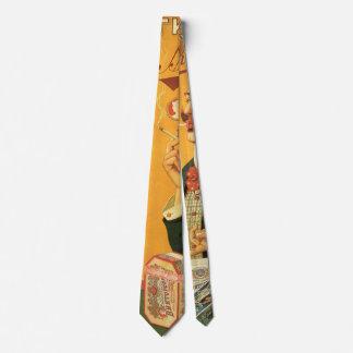 Vintage Product Label, Russian Tobacco Cigarettes Neck Tie