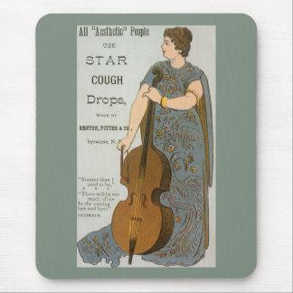 Vintage Product Label, Star Cough Drops Mouse Pad