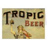 Vintage Product Label, Tropic Beer Greeting Card