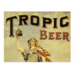 Vintage Product Label, Tropic Beer Postcard