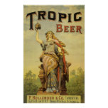 Vintage Product Label, Tropic Beer Poster