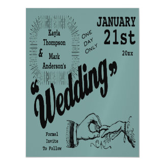 Vintage Production Save The Date Magnetic Card