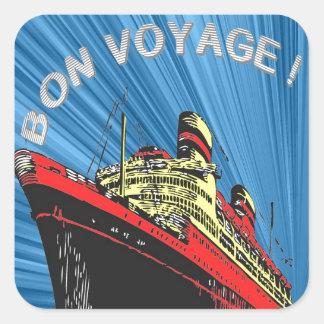 Vintage/producto retro del diseño del viaje del pegatina cuadrada