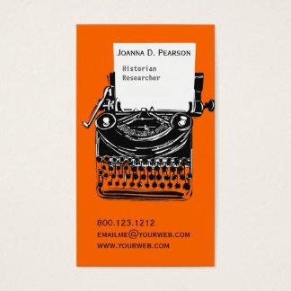 Vintage Professional Artistic Typewriter Writer Business Card