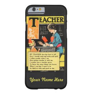 "Vintage ""Progressive Era"" Teacher Poem Barely There iPhone 6 Case"