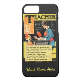 "Vintage ""Progressive Era"" Teacher Poem iPhone 7 Case"
