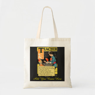 "Vintage ""Progressive Era"" Teacher Poem Tote Bag"