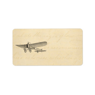 Vintage Propeller Airplane Retro Old Prop Plane Label
