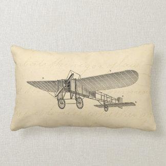 Vintage Propeller Airplane Retro Old Prop Plane Lumbar Pillow