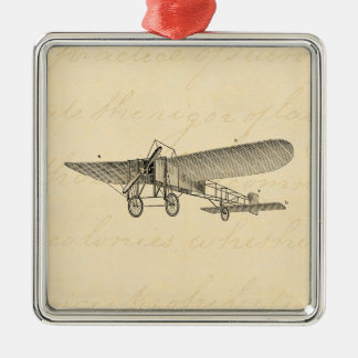 Vintage Propeller Airplane Retro Old Prop Plane Metal Ornament