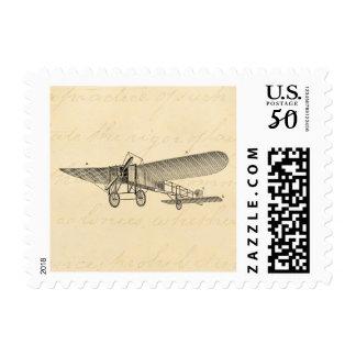 Vintage Propeller Airplane Retro Old Prop Plane Postage