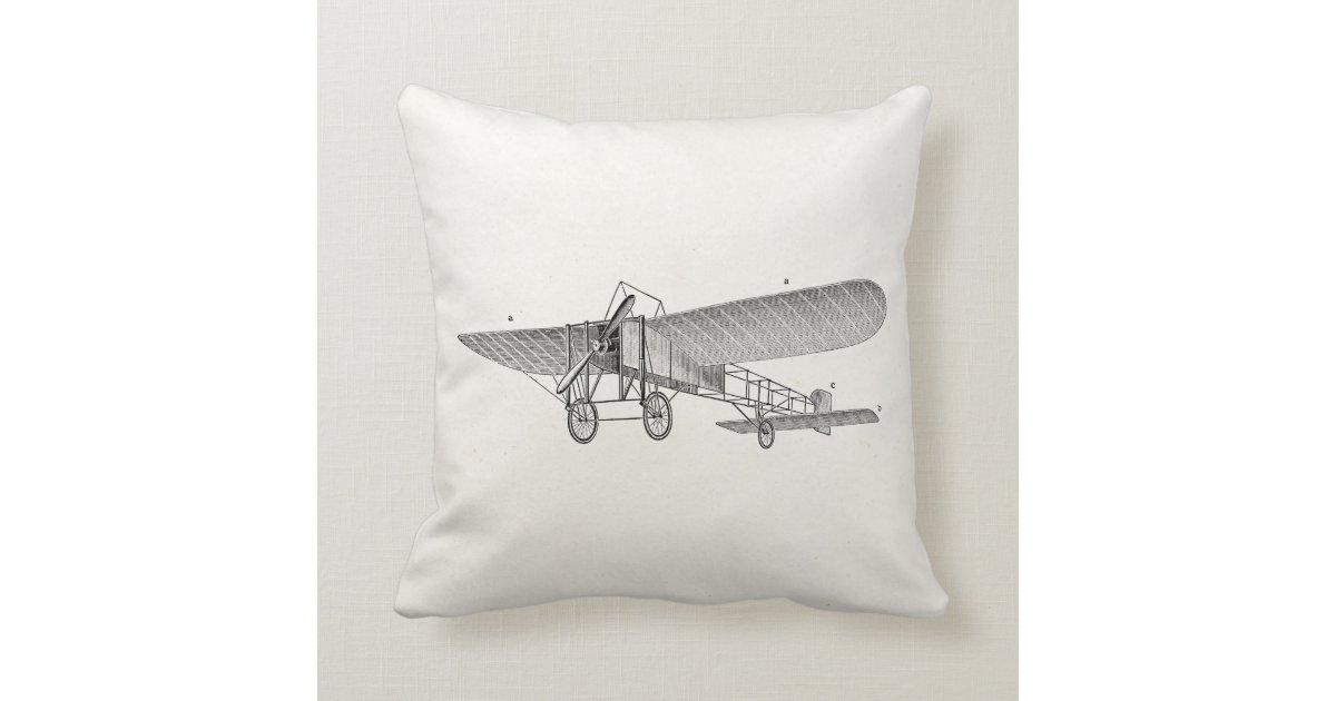 Vintage Propeller Airplane Retro Old Prop Plane Throw
