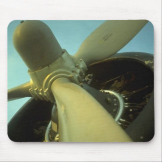 Vintage Propellor Airplane Mousepads